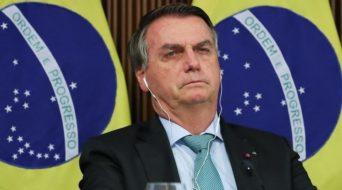 Bolsonaro falam na cúpula do clima (Foto: Marcos Corrêa/PR)