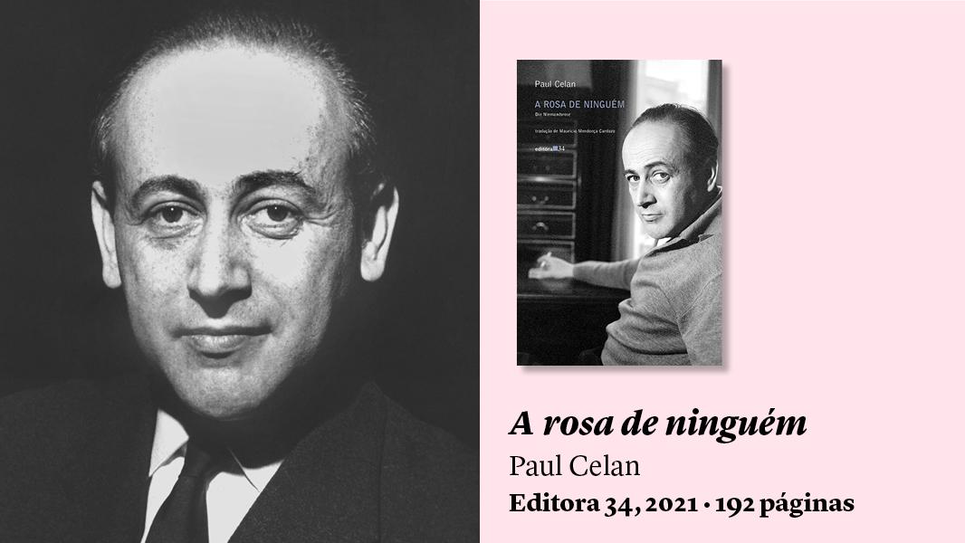 Rosa entre línguas: 'A rosa de ninguém', de Paul Celan, e outros livros